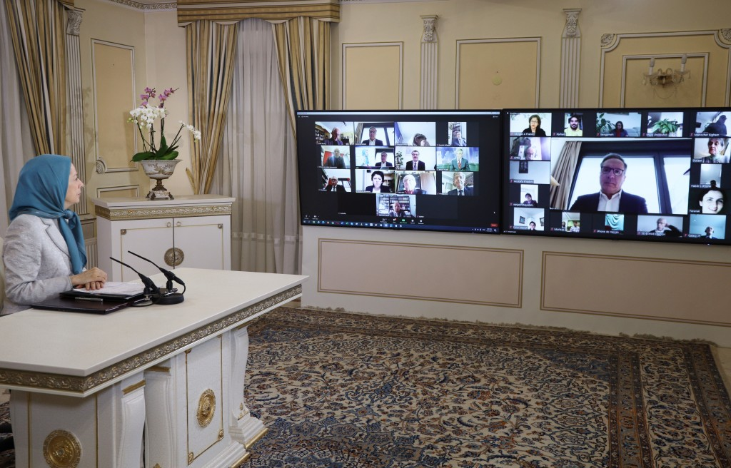 Online Conference featuring Maryam Rajavi, French MPs and Senators