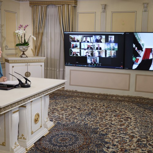 André Chassaigne, MP, President of GDR Group, and Vice-President of the French Parliamentary Committee for a Democratic Iran (CPID), addresses the online conference featuring French MPs and senators
