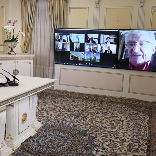 Alain Néri, an honorary senator, and former Vice-President of the French Parliamentary Committee for a Democratic Iran (CPID), addresses the online conference featuring French MPs and senators