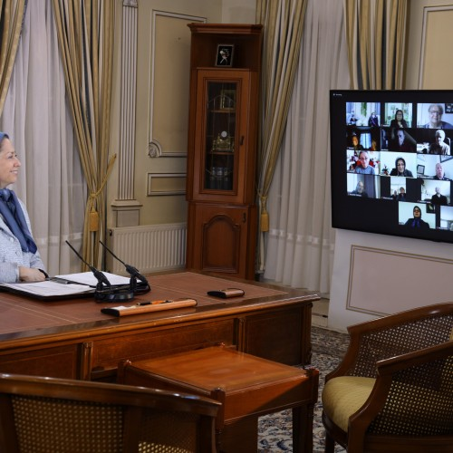 Maryam Rajavi's meetings in the beginning of the Persian New Year Auvers-Sur-Oise, Paris- April 2021