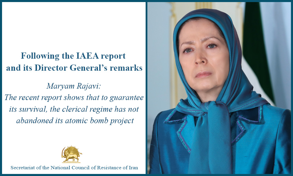 Following the IAEA report and its Director General's remarks