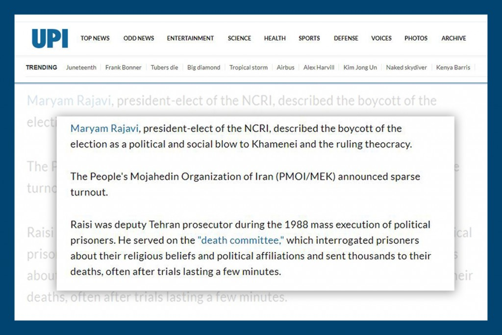 Maryam Rajavi described the boycott of the election as apolitical and social blow to Khamenei and the ruling theocracy