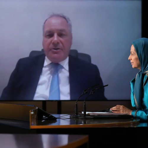 Bob Blackman, British MP speaks at the second day of the Free Iran World Summit - Europe – Arab World Stand with the Resistance - July 11, 2021