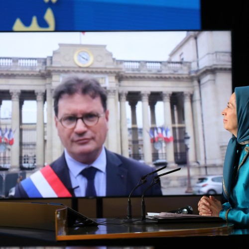 Philippe Gosselin, French MP representing the Manche Department speaks at the second day of the Free Iran World Summit - Europe – Arab World Stand with the Resistance - July 11, 2021