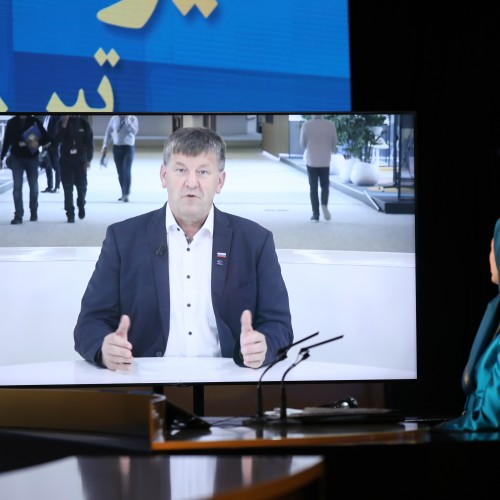 MEP Franc Bogovič from Slovenia speaks at the second day of the Free Iran World Summit - Europe – Arab World Stand with the Resistance - July 11, 2021