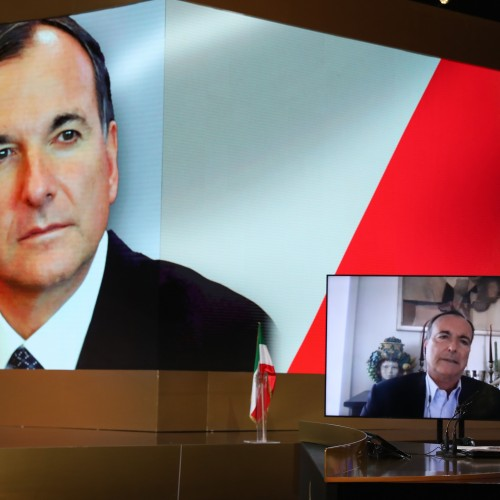 Franco Frattini, Minister of Foreign Affairs of Italy (2008 –2011) & (2002 –2004), European Commissioner for Justice, Freedom and Security speaks at the first day of the Free Iran World Summit - The Democratic Alternative on the March to Victory- July 10,  (2004 –2008)