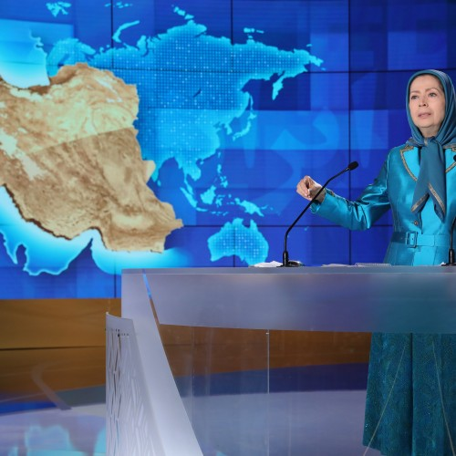Maryam Rajavi at the second day of the Free Iran World Summit – Europe – Arab World Stand with the Resistance – July 11, 2021