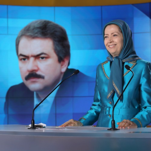 Maryam Rajavi at the second day of the Free Iran World Summit - Europe – Arab World Stand with the Resistance - July 11, 2021
