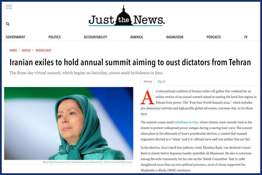 Iranian exiles to hold annual summit aiming to oust dictators from Tehran