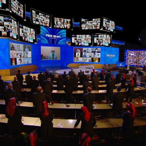 Talking with Resistance units inside Iran at the first day of the Free Iran World Summit - The Democratic Alternative on the March to Victory- July 10,