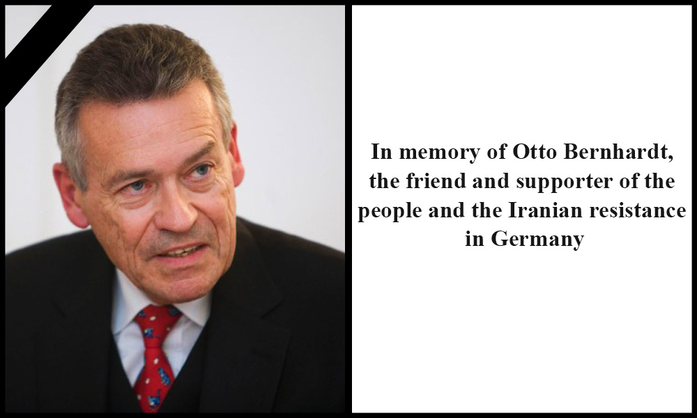 In memory of Otto Bernhardt, the friend and supporter of the people and the Iranian resistance in Germany