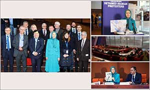 Maryam Rajavi in the Parliamentary Assembly of the Council of Europe Strassbourg