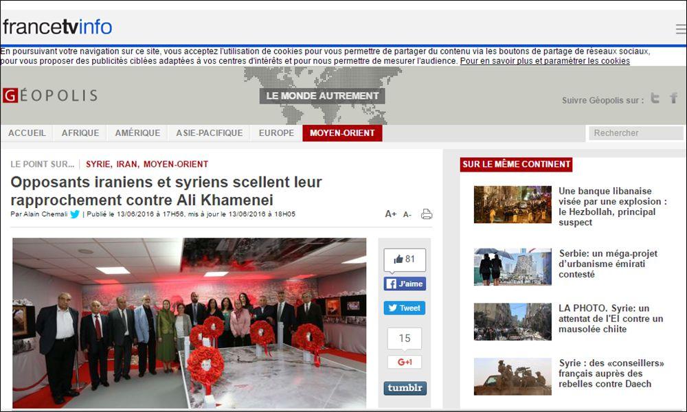 Opposants iraniens et syriens scellent leur rapprochement contre Ali Khamenei
