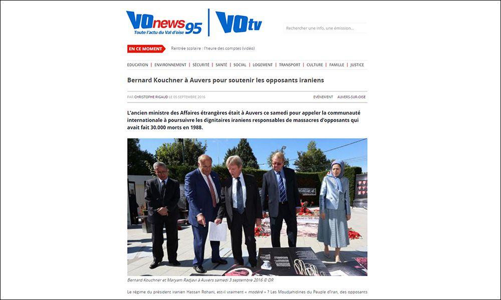 Bernard Kouchner à Auvers pour soutenir les opposants iraniens