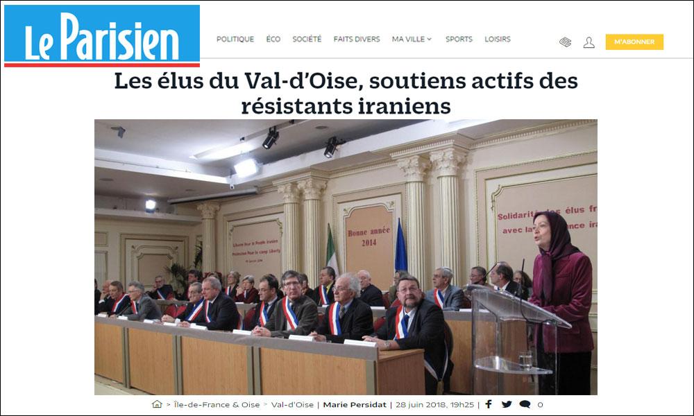 Les élus du Val-d'Oise, soutiens actifs des résistants iraniens