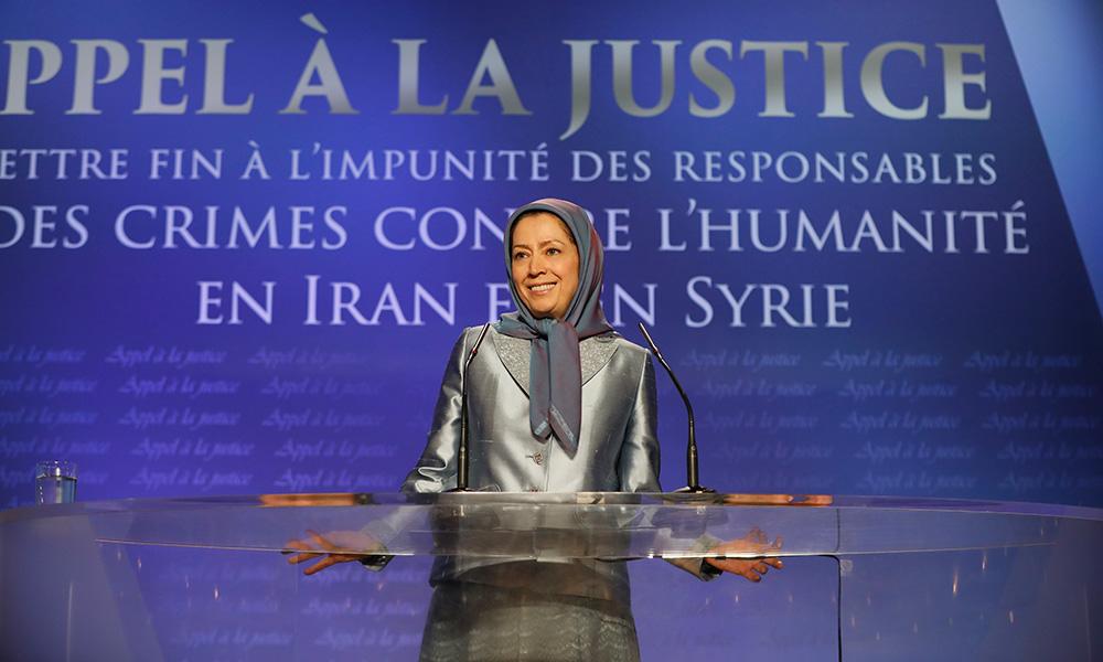 Discours en direct du discours de Maryam Radjavi à la conférence « Appel à la justice »