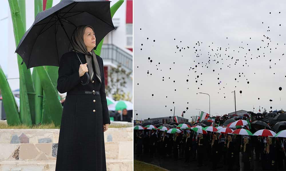 Hommage à Achraf-3 aux victimes de la catastrophe aérienne du vol ukrainien en Iran