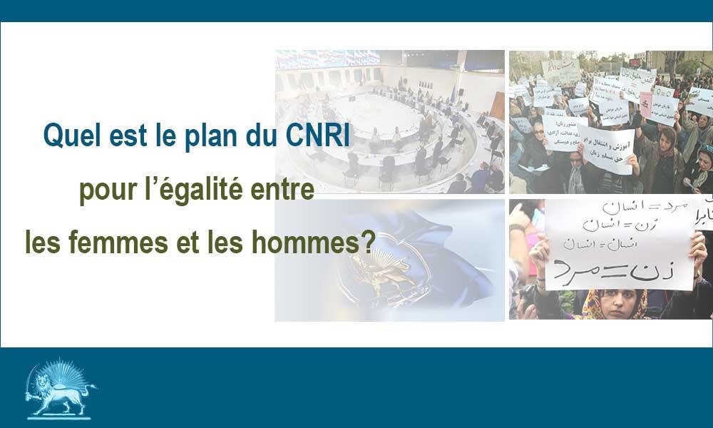 Quel est le plan du CNRI pour l'égalité entre les femmes et les hommes?