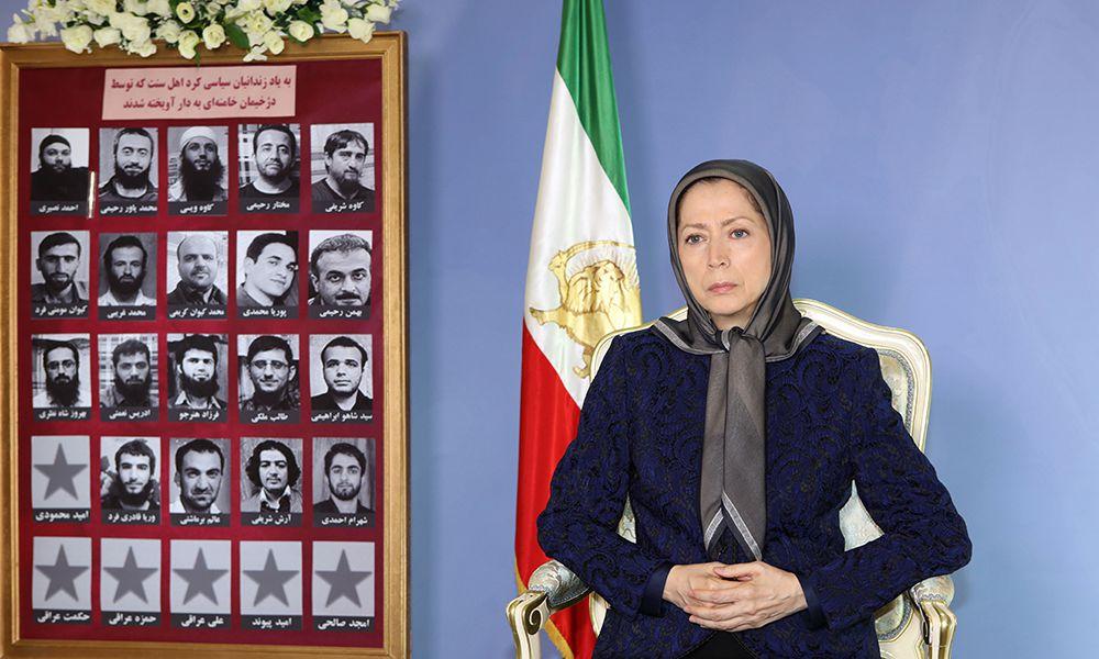 Message sur l'exécution collective de  prisonniers politiques