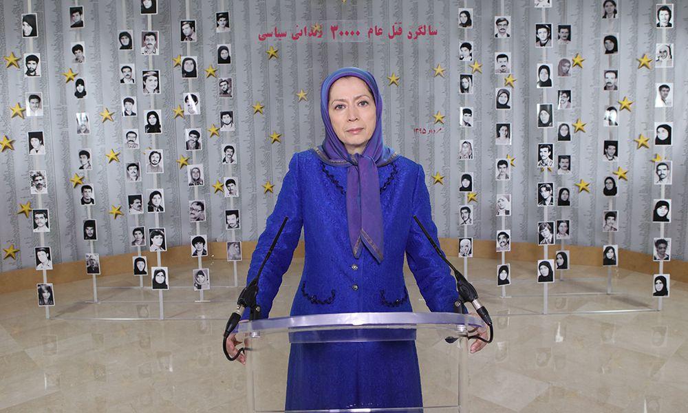 Maryam Radjavi appelle à la formation d'un mouvement demandant justice pour les victimes du massacre