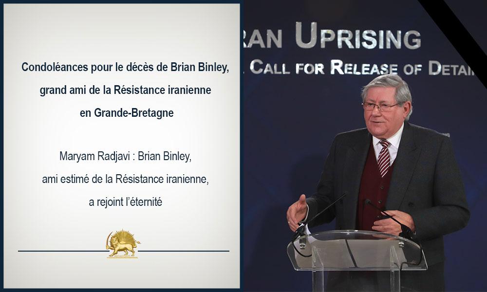 Condoléances pour le décès de Brian Binley, grand ami de la Résistance iranienne en Grande-Bretagne