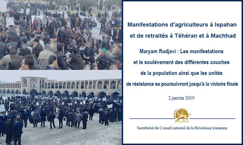 Maryam Radjavi : Les manifestations et le soulèvement des différentes couches de la population ainsi