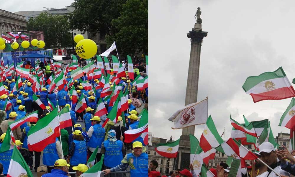 Manifestation de 3000 Iraniens à Londres