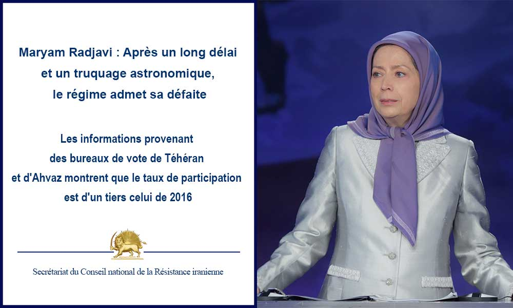 Maryam Radjavi : Après un long délai et un truquage astronomique,  le régime admet sa défaite