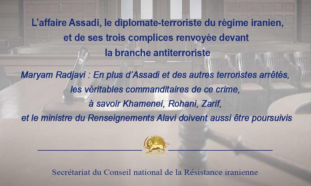 En deuxième audience, l'affaire Assadi, le diplomate-terroriste du régime iranien, et de ses trois c