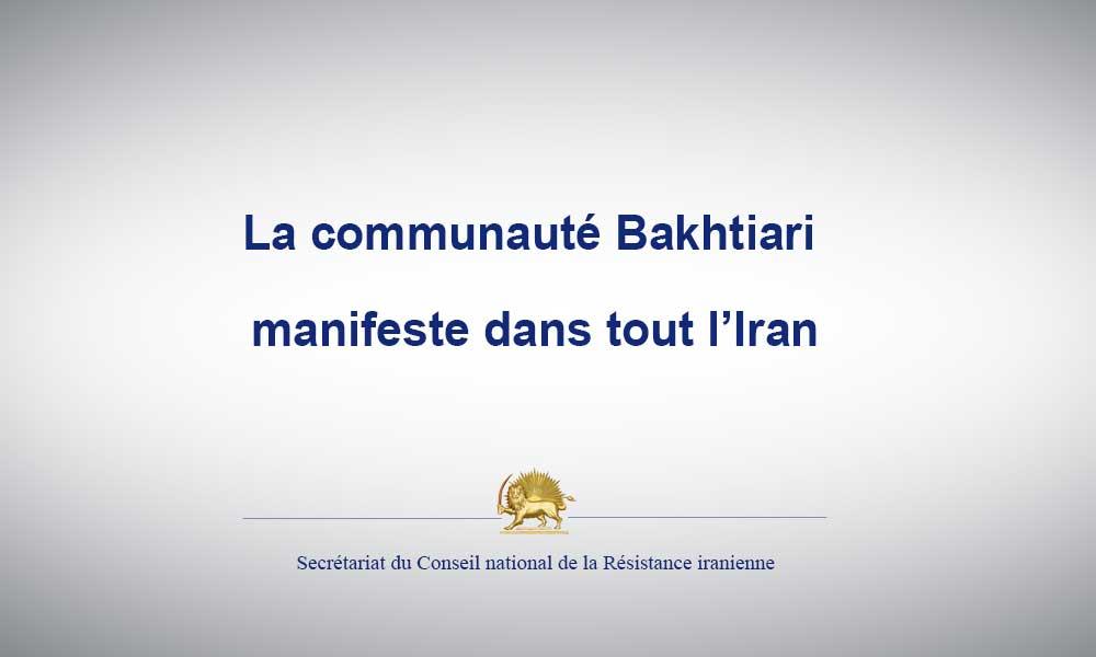 La communauté Bakhtiari manifeste dans tout l'Iran