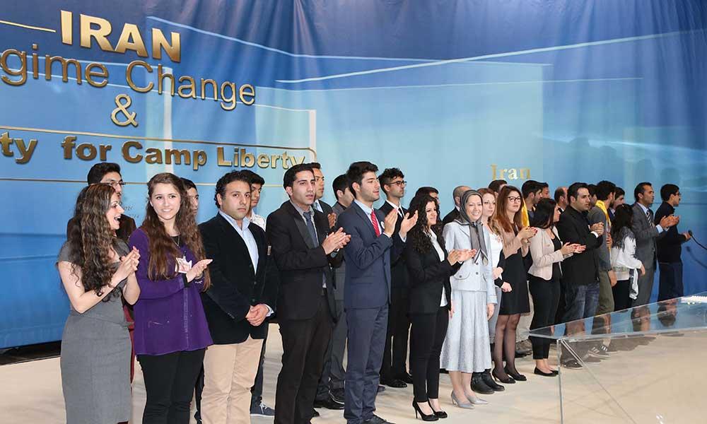 Maryam Radjavi à la conférence sur l'Iran- un changement de régime, la sécurité pour le Camp Liberty