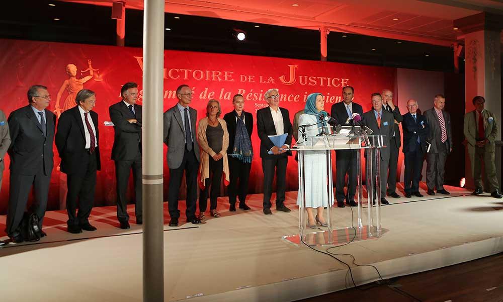 Maryam Radjavi- Conférence de presse – Victoire de la justice