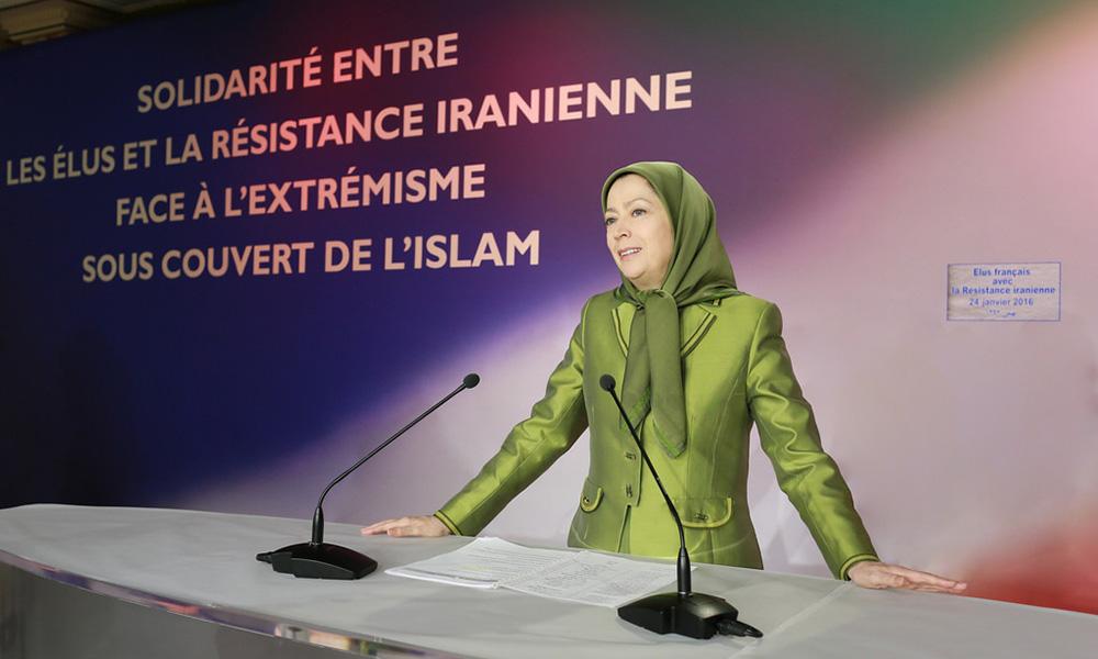 Vœux 2016 de Maryam Radjavi – Conférence avec les maires et élus français