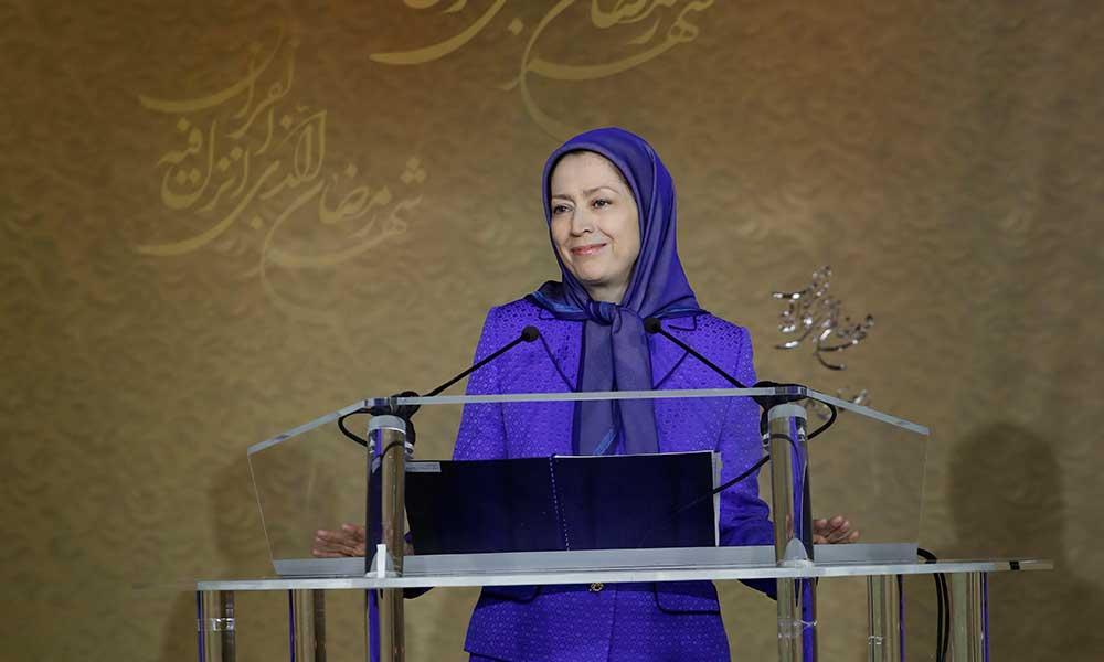 Maryam Radjavi à la conférence de solidarité des religions contre l'extrémisme