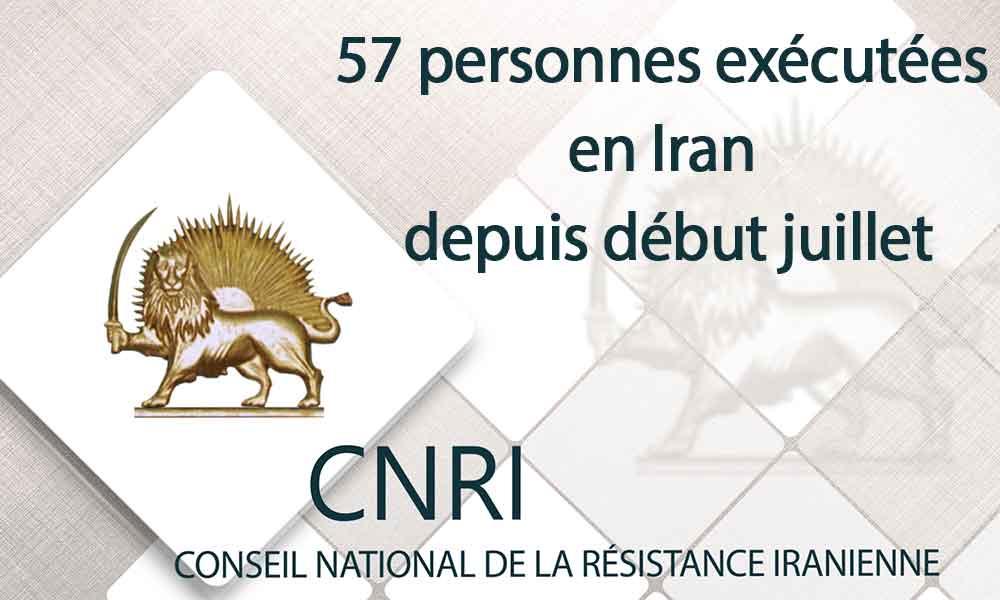 57 personnes exécutées en Iran depuis début juillet