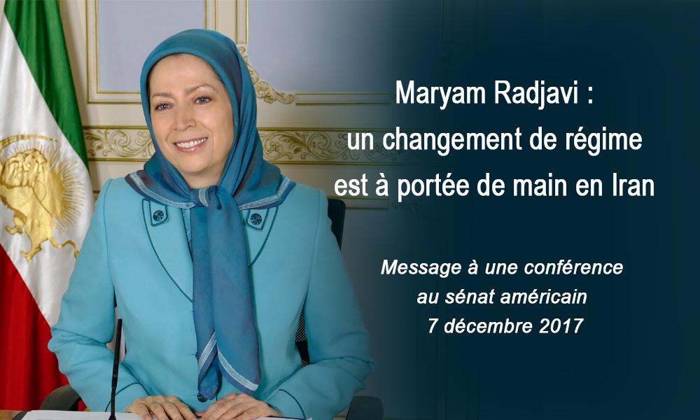 Maryam Radjavi : un changement de régime est à portée de main en Iran
