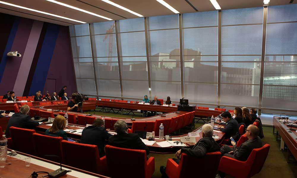 Maryam Radjavi à la réunion officielle du groupe pour la gauche unitaire européenne (GUE)