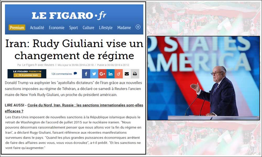 Iran: Rudy Giuliani vise un changement de régime