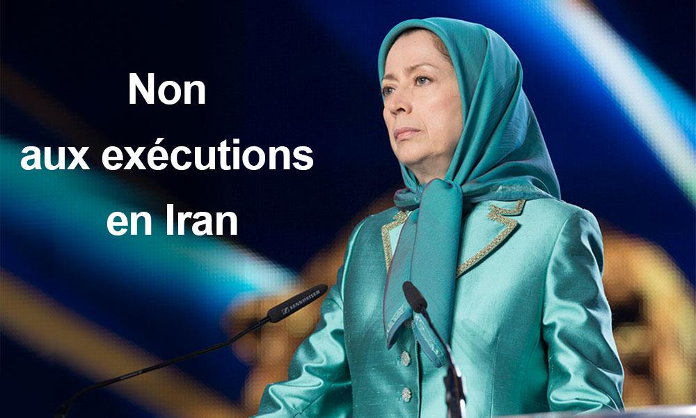 Non aux exécutions en Iran