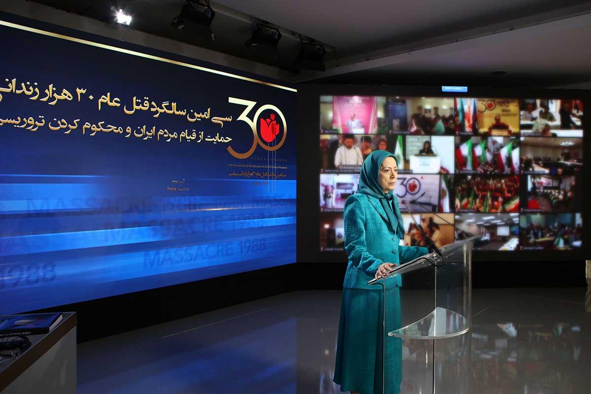 Maryam Radjavi : les héros victimes du massacre de 1988, inspirent les villes insurgées en Iran