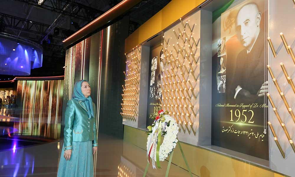 Hommage au Grand Mossadegh, dirigeant du mouvement national iranien