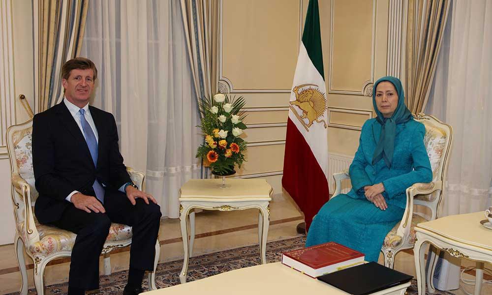 Rencontre de Maryam Radjavi avec Patrick Kennedy