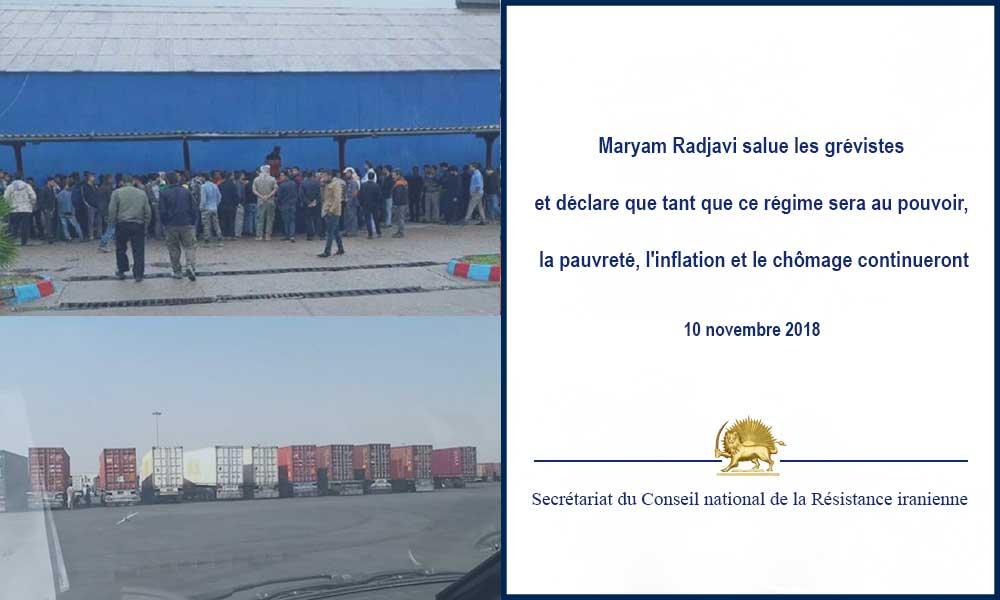 Maryam Radjavi salue les grévistes et déclare que tant que ce régime sera au pouvoir, la pauvreté, l'inflation et le chômage continueront