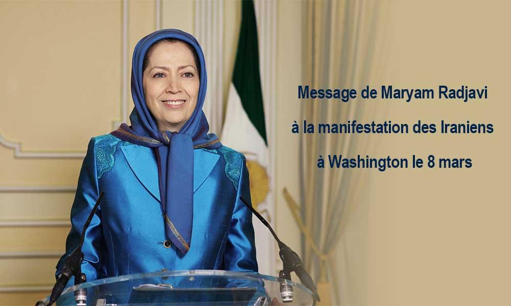 Message de Mayam Radjavi pour la manifestation du 8 mars à Washington