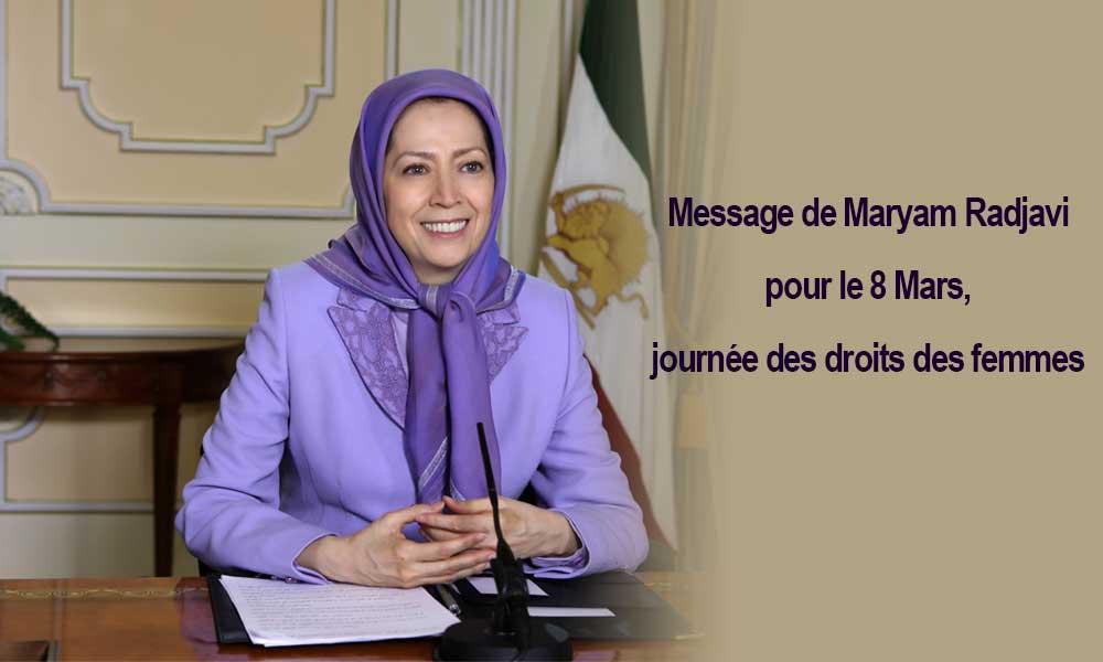 Message de Maryam Radjavi pour le 8 Mars, journée des droits des femmes