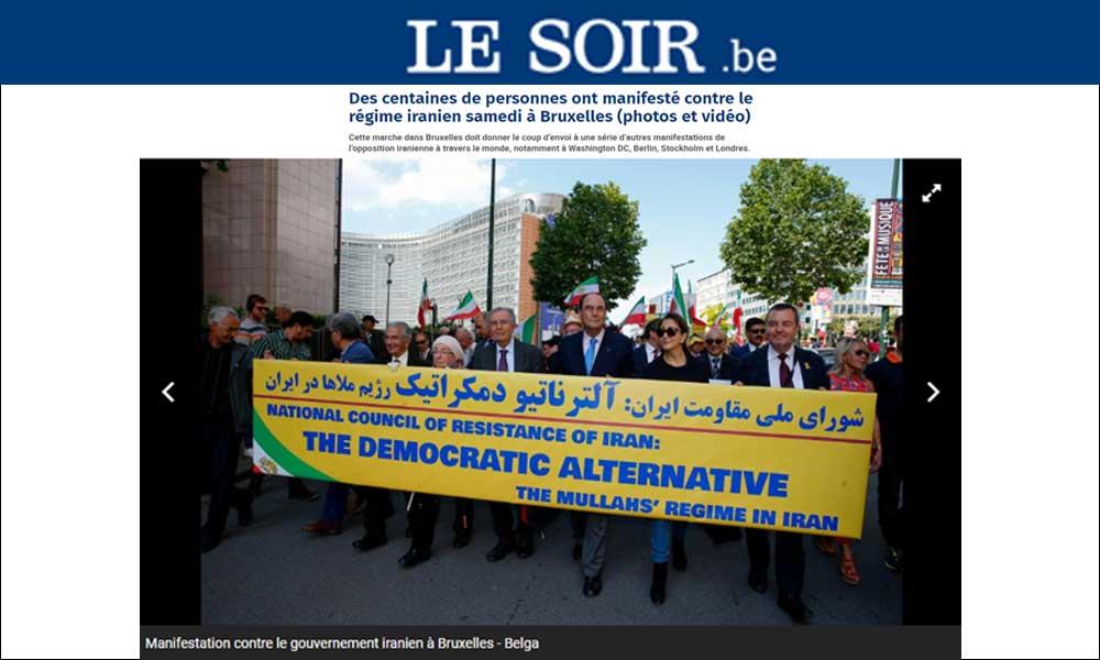 Manifestation contre le gouvernement iranien à Manifestation contre le gouvernement iranien à Bruxelles