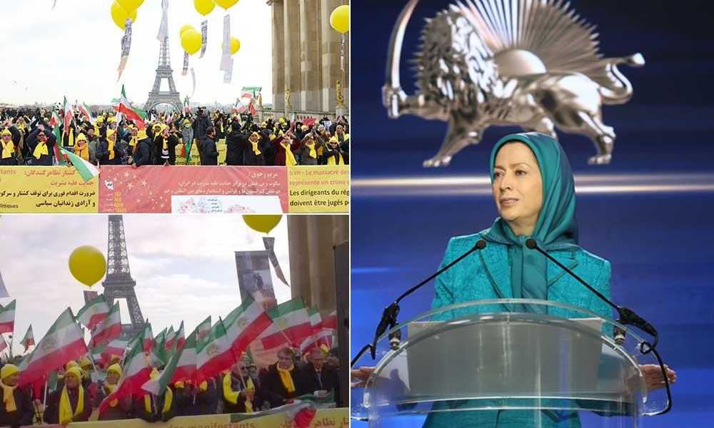 Message de Maryam Radjavi à la manifestation à Paris : On ne peut empêcher le soulèvement et la lutte du peuple pour le renversement des mollahs en Iran