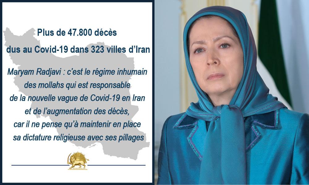 Le nombre de décès dus au Covid-19 dans 323 villes d'Iran dépasse les 47.800