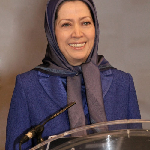 Maryam Rajavi at the gathering of 60 Iranian associations from Sweden, Norway, Denmark and Finland in Oslo- 25 February 2014