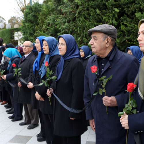 Maryam Rajavi at memorial ceremony for the victims of Paris attacks, Auvers-sur-Oise, November 16, 2015